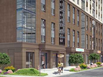 Коммерческие помещения на первом этаже в жилом комплексе Питер
